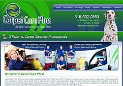 St. Louis Web Design for Carpet Care Plus
