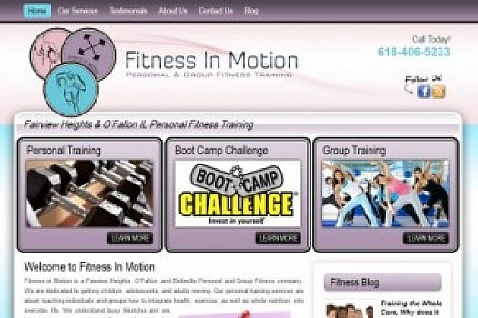 St. Louis Web Design for Fitness In Motion