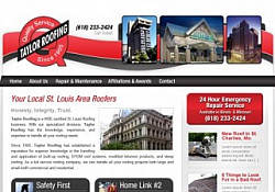 St. Louis Web Design for Taylor Roof