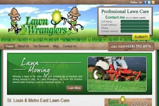 St. Louis Web Design for Lawn Wranglers