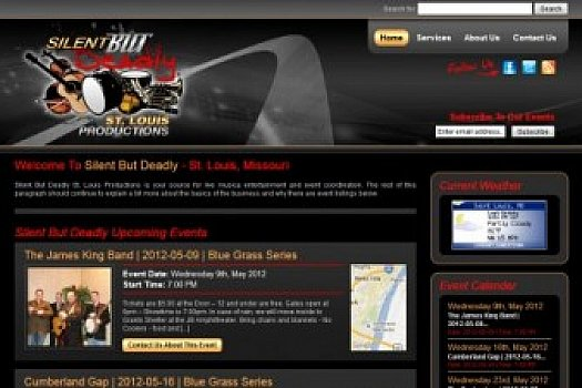 St. Louis Web Design for Silent But Deadly Productions